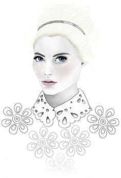 "Fashion Illustration ""Daisy"" by BeckiBoos"