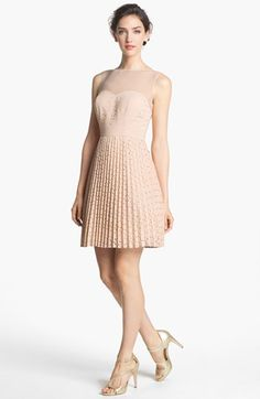 Sister's bridesmaid dress ideas  LABEL by five twelve Laser Cut Pleated Dress available at #Nordstrom