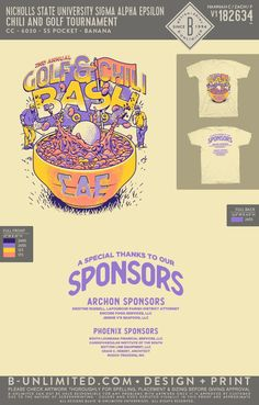 Nicholls State Sigma Alpha Epsilon Chili and Golf Tournament Event Shirt | Fraternity Event | Greek Event #sigmaalphaepsilon #sae #nicholls