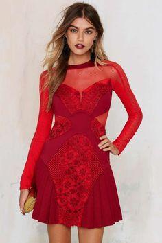 Three Floor Lady in Waiting Net Mesh Dress - Dresses