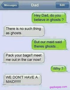 Funny Text About Dad vs.Ghosts