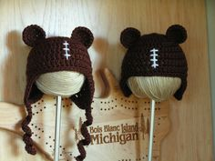 Hat for football and Chicago Bears baby by BellesBluffworks