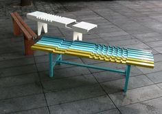 plaid bench by raw edges design studio Studio Furniture, Apartment Furniture, Home Decor Furniture, Modern Furniture, Furniture Design, Bench Designs, Edge Design, Design Design, Design Ideas