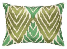 emerald-olive-green-decorative-ikat-pillows