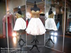 Ivory Strapless Sweetheart Gold Beaded Homecoming Dress