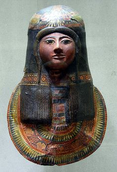 Mask of Lineferty, Dynasty 19, ca 1279-1213 BC. Taken From the tomb of Sennedjem.