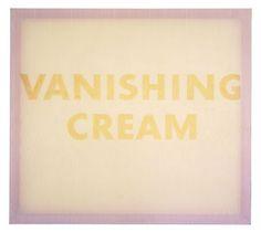 Ed Ruscha. Vanishing Cream.