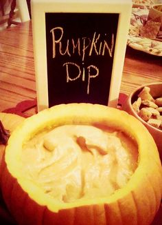 This simple pumpkin dip recipe is a hit at fall parties! Serve with fruit, graham crackers or gingersnaps. YUM!