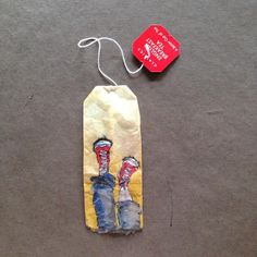 363 days of tea. Day 188. When the going gets tough, tough!#recycled #teabag #art