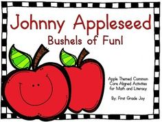 """Use this adorable common core aligned packet, to engage primary students in cross curricular activities, based around Johnny Appleseed.Packet includes:-Johnny Appleseed Graphic Organizer (Adjective Focus)-ORIGINAL Johnny Appleseed poem -Poetry study page (Word Family, Rhyming, Initial Short """"A"""" Sound Identification Focus)-Graphic Organizer Good Citizenship (Adjective Focus)-Narrative Writing """"Good Citizen"""" -Sight Word Builder (He/Likes)-Sight Word Builder (I/Can)-Apple Number Decomposing (F..."""