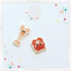 "116 次赞、 2 条评论 - Lulu & The Little Pea (@lulu_and_the_little_pea) 在 Instagram 发布:""-dis tu fais quoi toi demain ? -je vais à l @hotelboheme . Il va y avoir plein de jolies choses !…"" Loom Bracelet Patterns, Hama Beads Patterns, Beaded Jewelry Patterns, Peyote Patterns, Beading Patterns, Seed Bead Bracelets, Seed Bead Jewelry, Art Perle, Brick Stitch Earrings"