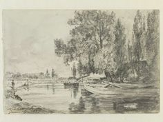 A view of the canal, Newbury, Berks., John Constable, 1821