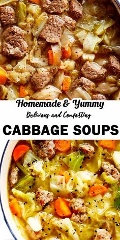 Cabbage Soups: A Perfect Comfort Food For Fall and Winter - Soups Recipes Cabbage Roll Soup, Cabbage Soup Recipes, Cabbage Rolls, Stuffed Cabbage Soup, Cabbage Stew, Chicken Recipes, Pressure Cooker Cabbage Soup Recipe, Cooking Recipes, Healthy Recipes