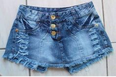 Lindos Short Saias Jeans Destroied - R$ 59,90 no MercadoLivre