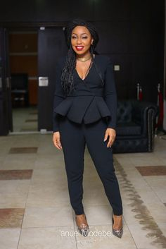 nigerian celebrity fashion 50 of Rita Dominics Best Fashion Moments - AfroCosmopolitan Corporate Outfits, Corporate Attire, Business Casual Outfits, Fashion Wear, Work Fashion, Fashion Outfits, Classy Work Outfits, Chic Outfits, African Print Fashion
