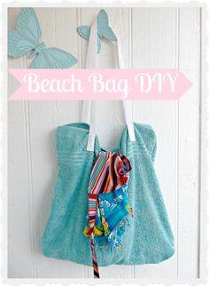 DIY Beach Bag Upcycle Towels
