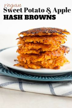 Vegan and Paleo Sweet Potato Apple Hash Browns | http://simplerootswellness.com