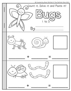Math Booklets (Count it, Solve it, Paste it)!  Addition and subtraction Booklets that helps students solve simple math problems!