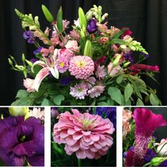 Something beautiful Monday! The Lizzies are here, the Lizzies are here! We LOVE it when The Gardener's Workshop summer lisianthus comes in! We cannot get enough of it! Deep purple and pink Lizzies are featured in this summery pink & purple arrangement along with pink zinnias, snapdragons & cosmos, lavender roses & electric coxcomb. Cheers! #somethingbeautiful #flowers #wmbg #williamsburgva #lovewmbg