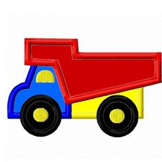 Digitizing Dolls Dump Truck Applique Embroidery Design 4x4 5x7 INSTANT DOWNLOAD