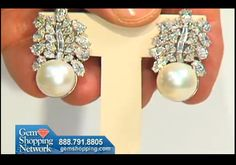 Lovely pearl and diamond earrings