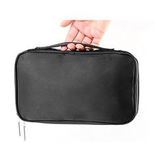 NUOLUX Makeup Bag Cosmetic Travel Bag Double Layer Solid Travel Toiletry Bag Organizer >>> See this great image (This is an affiliate link and I receive a commission for the sales) : Travel cosmetic bag