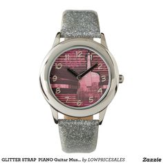 GLITTER STRAP  PIANO Guitar Music Wristwatch Sisters Boyfriend, Wife And Girlfriend, Dad Son, Mom And Dad, Sunflower Jewels, Christmas Mom, Wrist Watches, Piano, Guitar