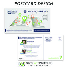 Postcards can be an significant part of your marketing campaign. They declare who you are, what you offer, and how you beat out the competition. These printed pieces also show your target audience your attention to detail and knowledge of good design. Write Now Marketing, LLC can elevate your printed materials to the next level with custom designs that are sure to impress and get you noticed! Learn more at writenowmarketing.com/direct-mailing.html.