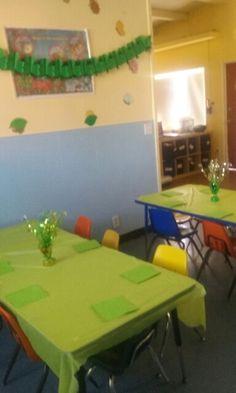 St Patrick's decorations at a preschool