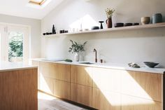 Urban kitchen design by Hannah Gooch Studio. White oiled oak cabinet fronts from… Urban kitchen design by Hannah Gooch Studio. White oiled oak cabinet fronts from Custom Fronts.