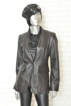 DKNY Women's Black Leather Jacket Fitted Blazer Fully Lined sz 4 one button | Clothing, Shoes & Accessories, Women's Clothing, Suits & Blazers | eBay! #leatherblazer #dkny #blackleather #leatherjacket #blackblazer #blazer #womensjacket #formation #fashionblogger #tam #ebay #blackleather #blackonblack