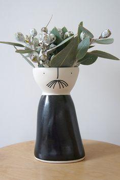 Lanky Mr Licorice ceramic stoneware pottery by vanessabeanshop