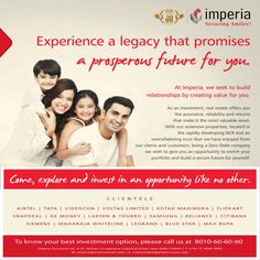 At Imperia, we seek to build relationship by creating value for you.