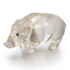 A Fabergé Carved Rock Crystal Figure of a Boar, St. Petersburg, circa 1900 | lot | Sotheby's