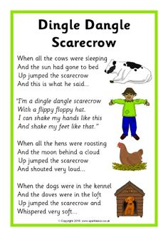 Dingle Dangle Scarecrow Song Sheet – The SparkleBox – Artsupplies Kindergarten Songs, Preschool Music, Fall Preschool, Preschool Ideas, Hello Songs Preschool, Nursery Activities, Rhyming Activities, Autumn Activities, Childcare Activities
