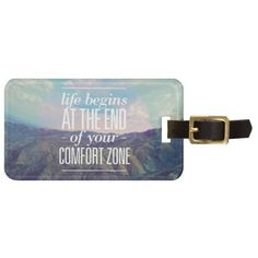 your comfort zone tags for luggage