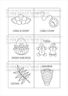 프랑스자수 스티치북 4장 도안입니다. 요즘 피곤해서 대충 그렸고 ㅋㅋㅋ 무료 이미지의 도움도 받고 해서 ... Types Of Embroidery Stitches, Embroidery Sampler, Hand Embroidery Patterns, Cross Stitch Embroidery, Embroidery Designs, Stitch Book, Sewing Class, Vintage Crafts, Needle And Thread