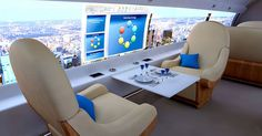 Windowless Jet Will Let You Virtually Ride on Top of Clouds