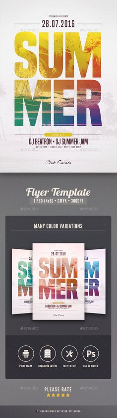 Insanely Hot PSD Summer Flyer Template  • Only available here ➝ http://graphicriver.net/item/summer-flyer-template/16434267?ref=pxcr