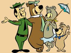 Yogi Bear, Boo Boo, Cindy Bear & Ranger Smith