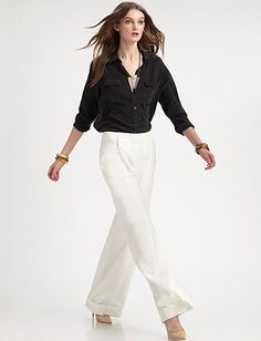 relaxed and stylish. cuffed, wide-leg pants