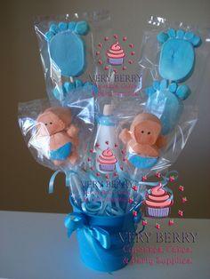 marshmallow babies | BABY MARSHMALLOW POPS CENTER PIECE