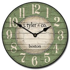 Boston Harbor Green Clock | The Big Clock Store