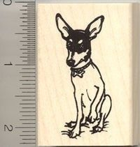 Rat Terrier Rubber Stamp