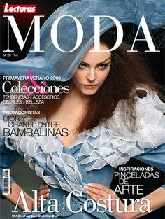 Revista moda Jerarquía, Balance asimétrico, Contrastes Tipográficos, Contraste colores.