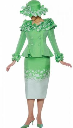 Nubiano N94822 Apple Green Church Suit