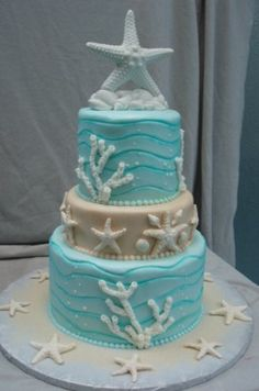 Beach Wedding Cakes | See some of beautiful wedding cakes for your beach theme wedding...