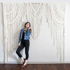 Macrame Wedding Backdrop // Macrame Curtain // Huge Large