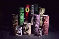 Paper Mache Halloween Candle Tutorial  -  LOVE THESE!