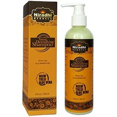 Introducing Natural Detoxifying Shampoo by Niradhi Herbals  SLSSLESParabens Free  Neem Green Tea  Aloe Vera  All Hair Type  8 floz. Get Your Ladies Products Here and follow us for more updates!